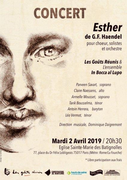 """2019 Affiche pour """"Esther"""""""