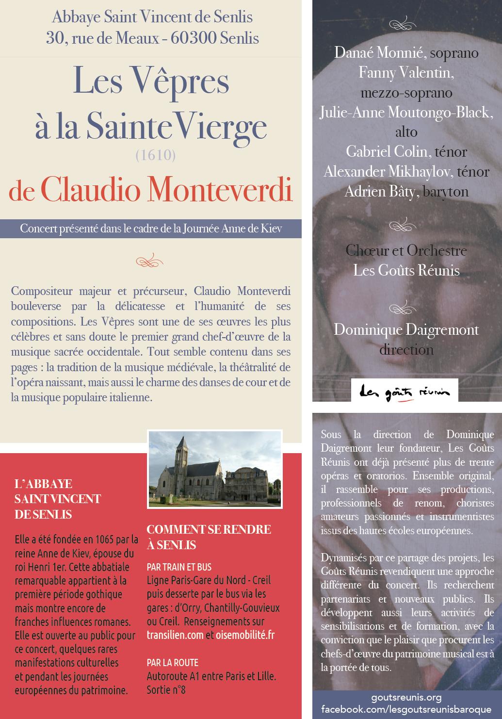 Monteverdi Senlis info