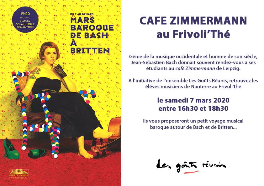 Affiche Café Zimmerman – Le Frivoli Thé